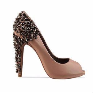 Sam Edelman Leather Lorissa Spike Crystal Heels